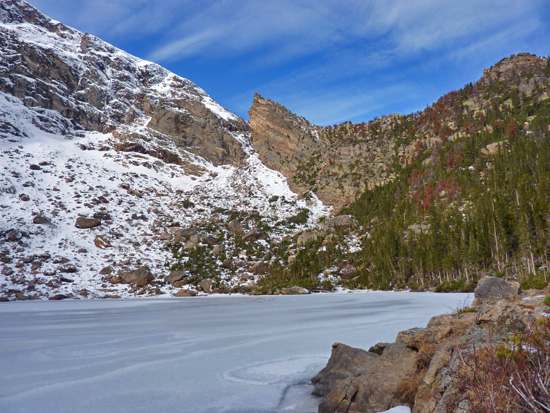 Winter comes early to Loomis Lake's secluded cirque basin