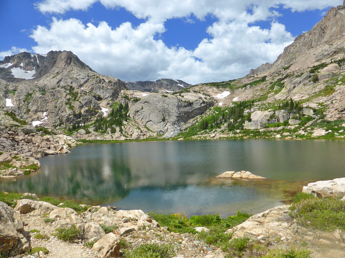 Bluebird Lake (10,978') in the Wild Basin Area of Rocky Mountain National Park